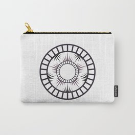 Minimalist Radial mandala Carry-All Pouch