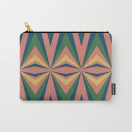Modern Tribal in Coral Multicolor Carry-All Pouch
