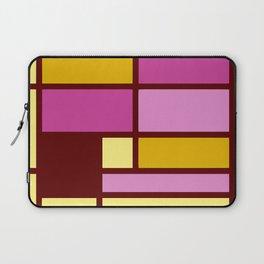Mondrianista yellow fuchsia Laptop Sleeve