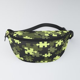 Puzzle preen yellow black Design Fanny Pack