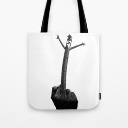 """The F Man"" / Black and White Tote Bag"