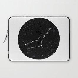 Virgo star sign zodiac star chart constellation black and white Laptop Sleeve
