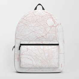 Washington DC Light Pink Minimal Street Map Backpack