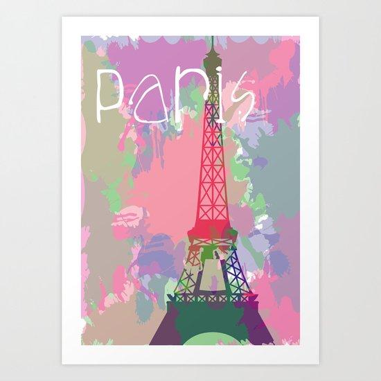 Paris Splash Art Print