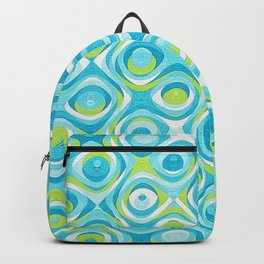 Elegant Abstract in Teal and Green Backpack