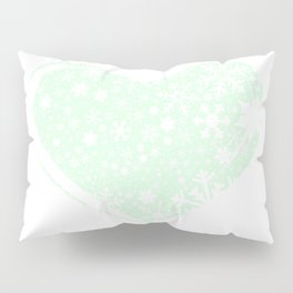 Christmas Heart Background Pillow Sham