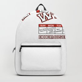 Weekly Workout Schedule Backpack