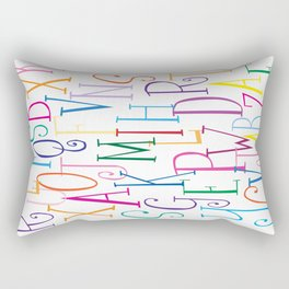 Alphabet City Rectangular Pillow