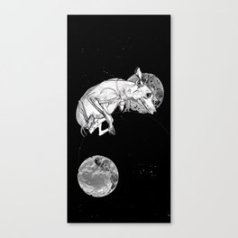 Dogs In Space Canvas Print