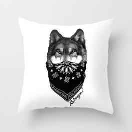 Animal Bandits - Wolf Throw Pillow