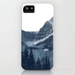 Transparent Snowy Mountains iPhone Case