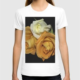Two Orange Roses and One White T-shirt