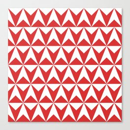 Mid Century Modern Triangle Pattern 531 Red Canvas Print