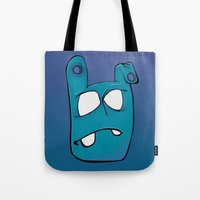 no face Tote Bags featuring Face by Chris Napolitano