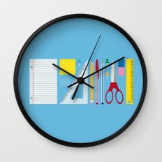 Office Supplies Wall Clock