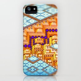 infrastructure III. Blue and Orange Abstract iPhone Case
