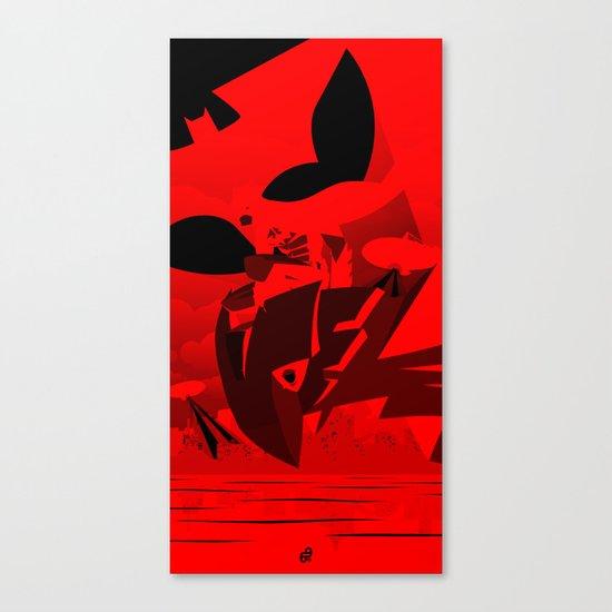 Knight Over Gotham Canvas Print
