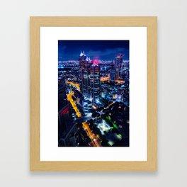 Tokyo at night - Photography Framed Art Print