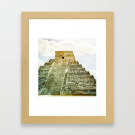 Chichen Itza pyramid Framed Art Print