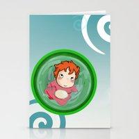 ponyo Stationery Cards featuring Ponyo  by SamIAmTheSam