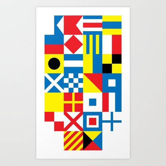 International Alphabetical Marine Signal Flags Art Print
