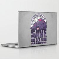 bioshock Laptop & iPad Skins featuring Save The Sea Slug by adho1982