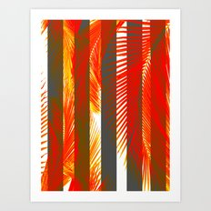 RED PALMS Art Print