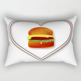 Love Burgers Rectangular Pillow