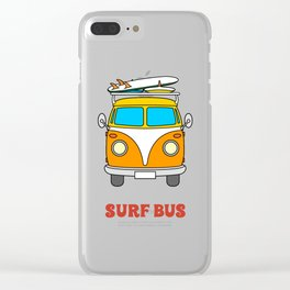 Surf T-Shirt Clear iPhone Case