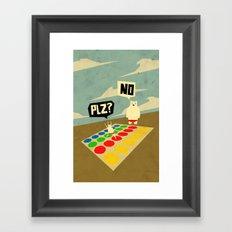 Yeti Doesn't play twister Framed Art Print
