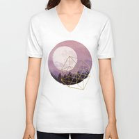 the moon V-neck T-shirts featuring moon by Laura Graves