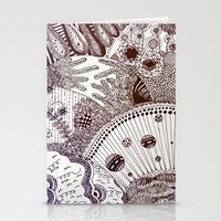 zentangle Stationery Cards featuring Zentangle by Marisa Toussaint