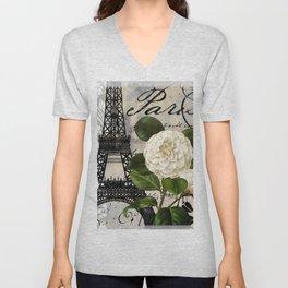 Paris Blanc I Unisex V-Neck
