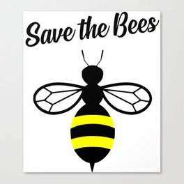 Save the bees logo Canvas Print