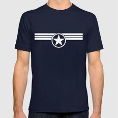 Captain S.H.I.E.L.D Navy Mens Fitted Tee LARGE