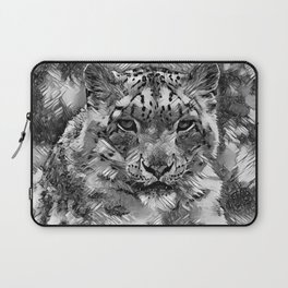 AnimalArtBW_Leopard_20170601_by_JAMColorsSpecial Laptop Sleeve