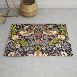 William Morris Strawberry Thief Art Nouveau Painting Rug