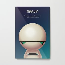 Marvin the Android Metal Print