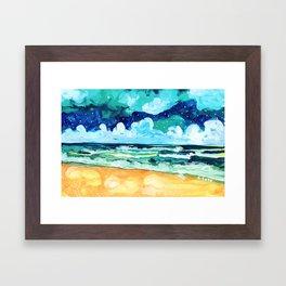 Simple Seascape X Framed Art Print