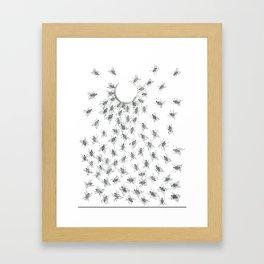 Gloomy Flies Framed Art Print