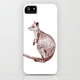 Swamp Wallaby iPhone Case