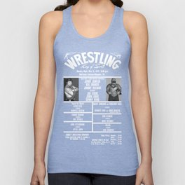 #7-B Memphis Wrestling Window Card Unisex Tank Top
