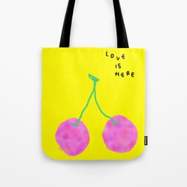 Words from Cherry - fruit love illustration wedding gift Tote Bag