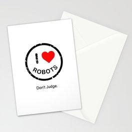 I (heart) Robots Logo Stationery Cards