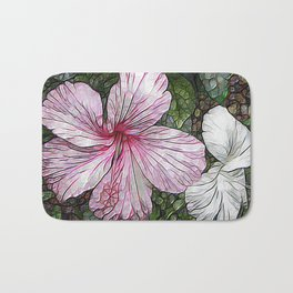 Fabulous hibiscus Bath Mat