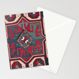 Cartouche Star II // 19th Century Colorful Red Blue Western Santa Fe Cowboy Style Ornate Accent Patt Stationery Cards