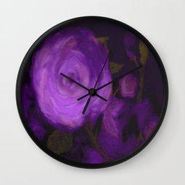The Purple Rose Wall Clock