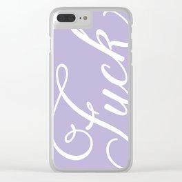 Pastel Purple Fuck Clear iPhone Case