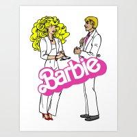 barbie Art Prints featuring Barbie by gamunev