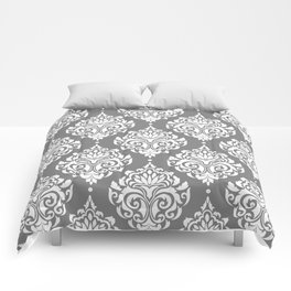 Grey Damask Comforters